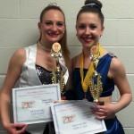 Alexa B & Mary W with awards